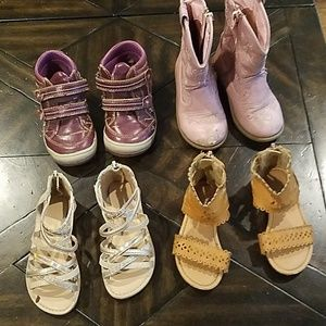 Girls toddler shoes and boots size 7 and 8